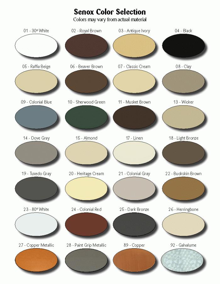 Senox Color Selection